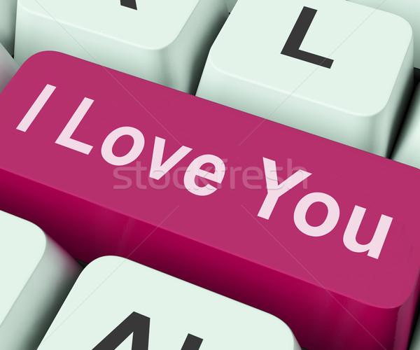 I Love You Key Shows Loving Or Romance Online Stock photo © stuartmiles