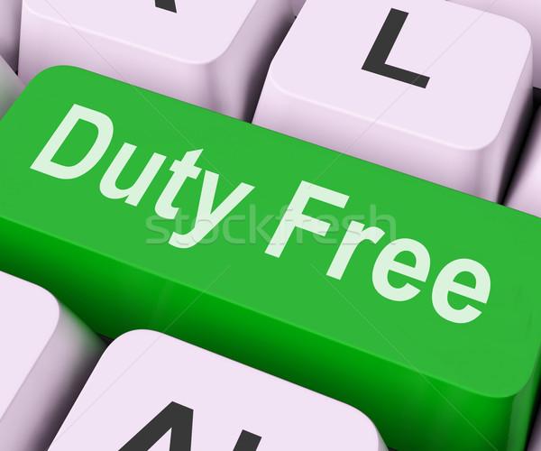 Duty Free Key Means Tax Free Stock photo © stuartmiles