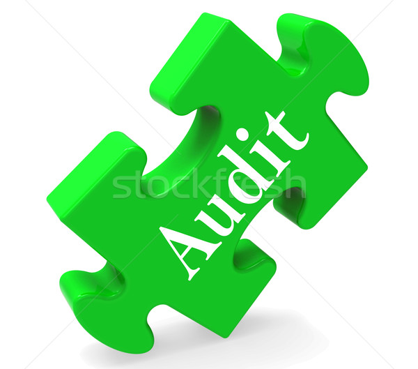 Audit Puzzle Shows Auditor Validation Scrutiny Or Inspection