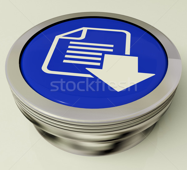 Download File Button Shows Downloaded Software Or Data Stock photo © stuartmiles