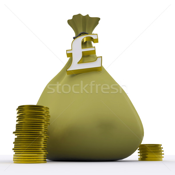 Pound çanta İngilizler para Stok fotoğraf © stuartmiles