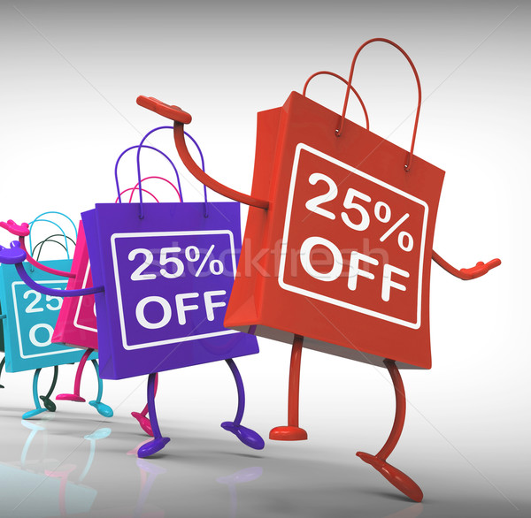Twenty-five Percent Off Bags Show 25 Sales Stock photo © stuartmiles