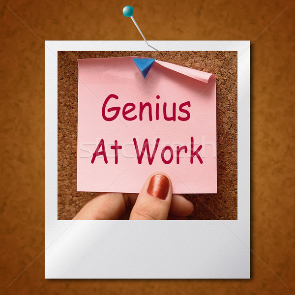 Genius At Work Note Means Do Not Disturb Stock photo © stuartmiles