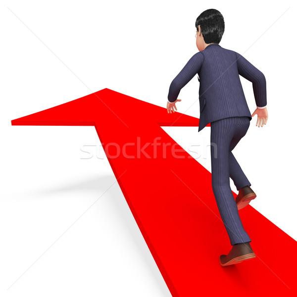 бизнесмен направлении исполнительного смысл корпоративного продвижение Сток-фото © stuartmiles