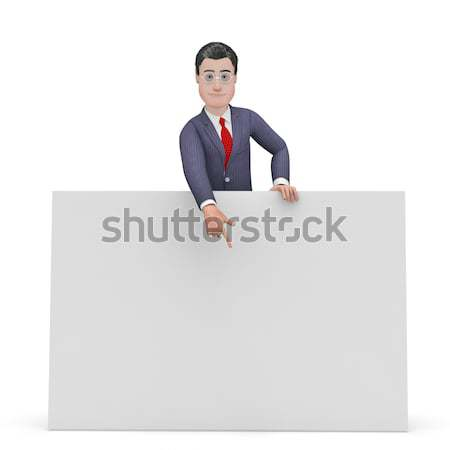 Businessman With Copyspace Shows Businessmen Sign And Message Stock photo © stuartmiles