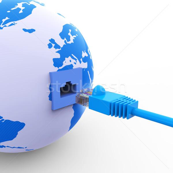 Világszerte kapcsolat globális kommunikáció háló weboldal bolygó Stock fotó © stuartmiles