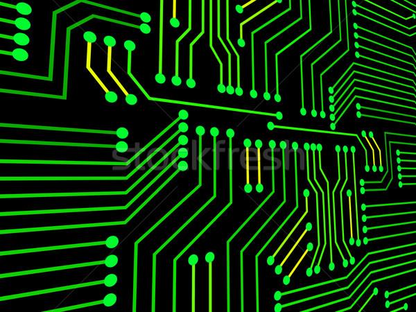 Circuito hi tech elettronica computer chip Foto d'archivio © stuartmiles