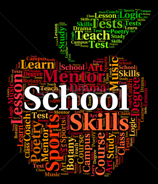 School Word Shows Classroom Schooling And Classrooms Stock photo © stuartmiles