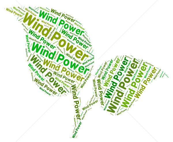 Wind Power Represents Turbine Energy And Environment Stock photo © stuartmiles