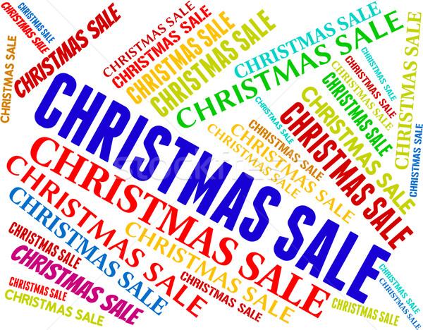 Karácsony vásár alkalmi vétel mentés szöveg mutat Stock fotó © stuartmiles