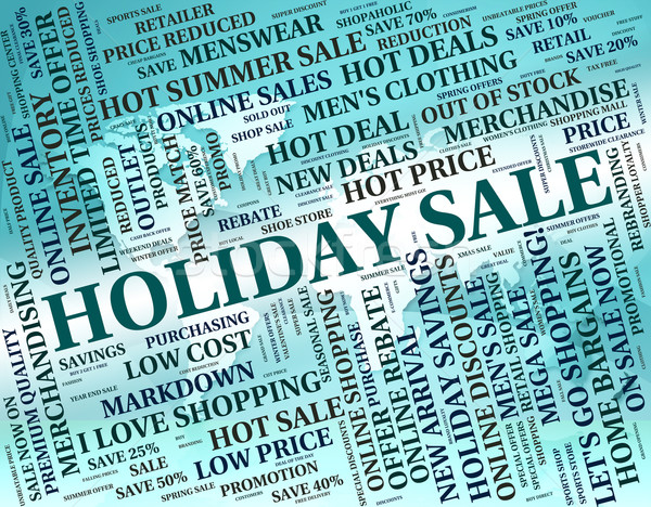 Tatil satış pazarlık kelime Stok fotoğraf © stuartmiles