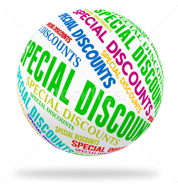 Special Discounts Indicates Noteworthy Offer And Word Stock photo © stuartmiles