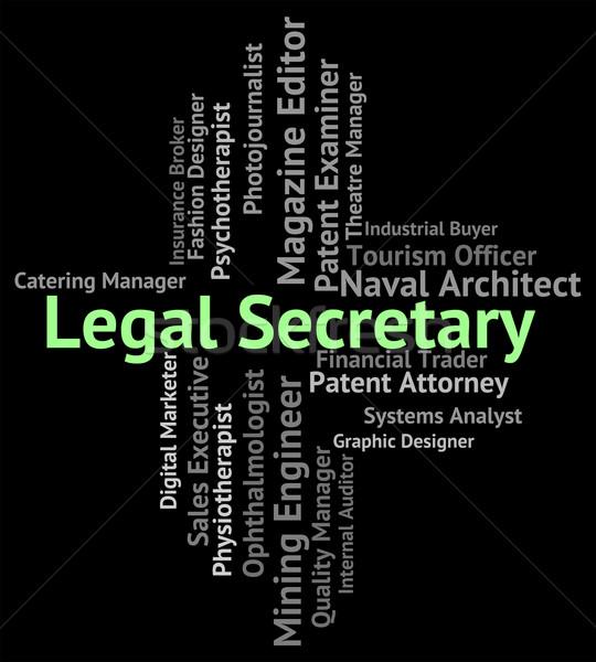 Juridische secretaris persoonlijke assistent raad positie Stockfoto © stuartmiles