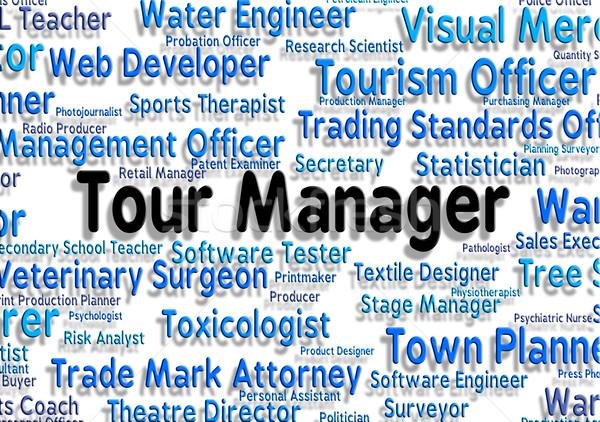 Turné menedzser vakáció vezetőség munka utazás Stock fotó © stuartmiles