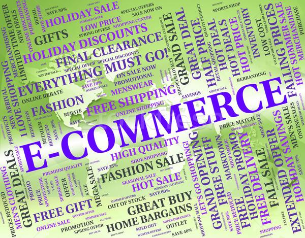 электронной коммерции слово онлайн бизнеса текста Сток-фото © stuartmiles