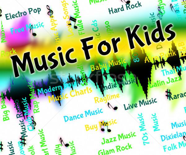 музыку дети звук акустический смысл детей Сток-фото © stuartmiles