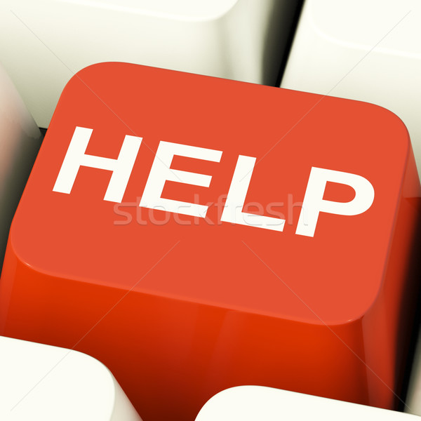 Help Computer Button Showing Assistance Support And Answers Stock photo © stuartmiles