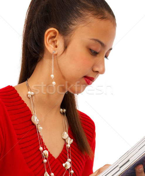 Сток-фото: девушки · образование · чтение · книга · женщину