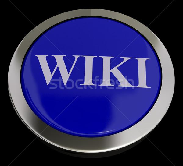 Wiki botão on-line informação enciclopédia educação Foto stock © stuartmiles