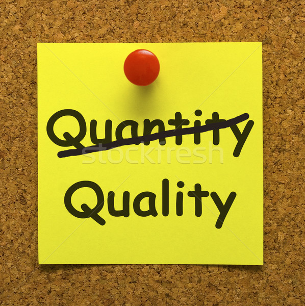 Quality Note Showing Excellent Product Stock photo © stuartmiles