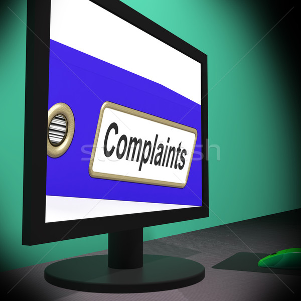 Complaints On Monitor Showing Angry Customers Stock photo © stuartmiles