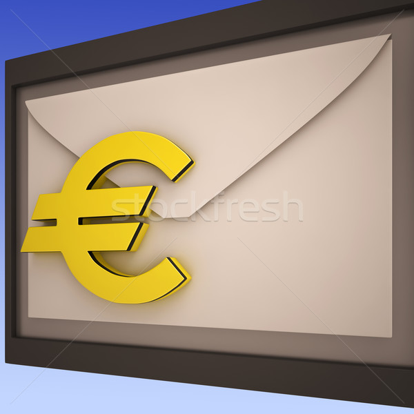 Euro On Envelope Shows European Correspondence Stock photo © stuartmiles