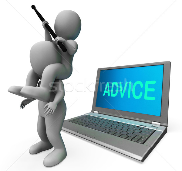 Advice Character Laptop Means Suggestion Recommended Or Suggeste Stock photo © stuartmiles