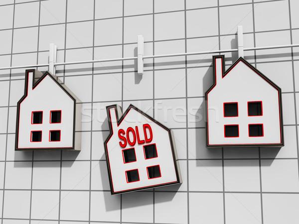 Venduto casa significato vendita immobiliari in vendita Foto d'archivio © stuartmiles
