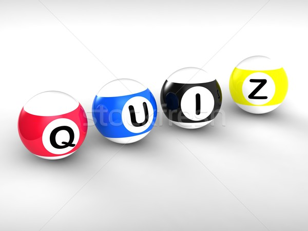 Quiz Word Showing Test Or Quizzing Stock photo © stuartmiles