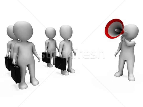 マネージャ メガホン 管理 会議 ビジネス ストックフォト © stuartmiles