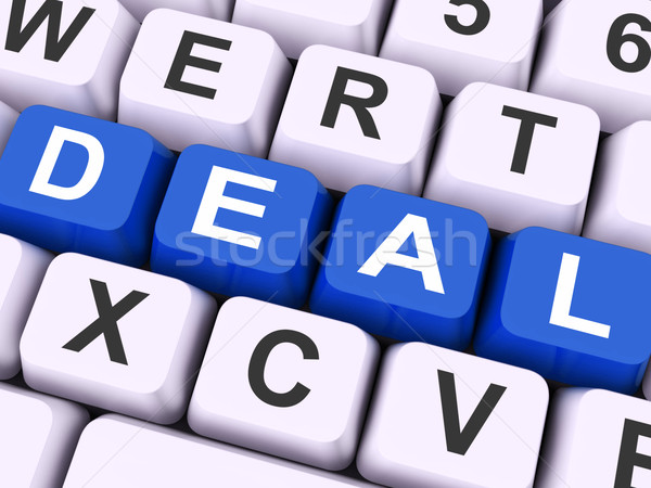 Deal Key Means Agreement Or Dealing Stock photo © stuartmiles