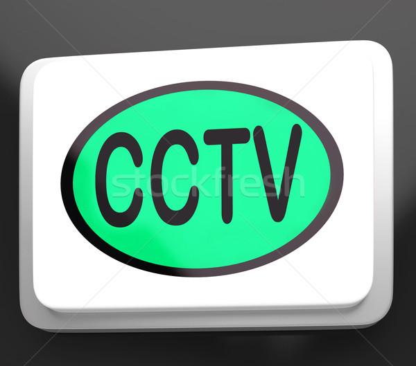 Cctv gomb kamera ellenőrzés online megfigyelés Stock fotó © stuartmiles