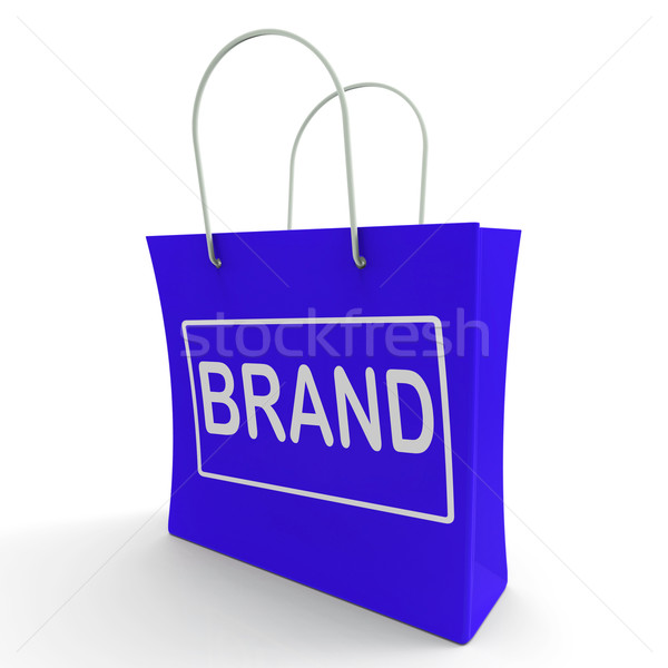 Merk boodschappentas branding handelsmerk label tonen Stockfoto © stuartmiles