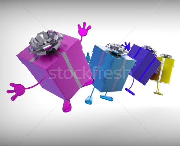 Presents Mean Give And Receive Gifts For Special Occasion Stock photo © stuartmiles