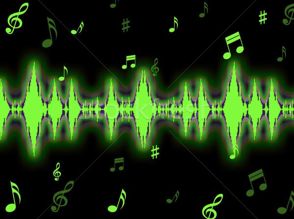 Geluidsgolf geluid spectrum tonen achtergrond grafiek Stockfoto © stuartmiles