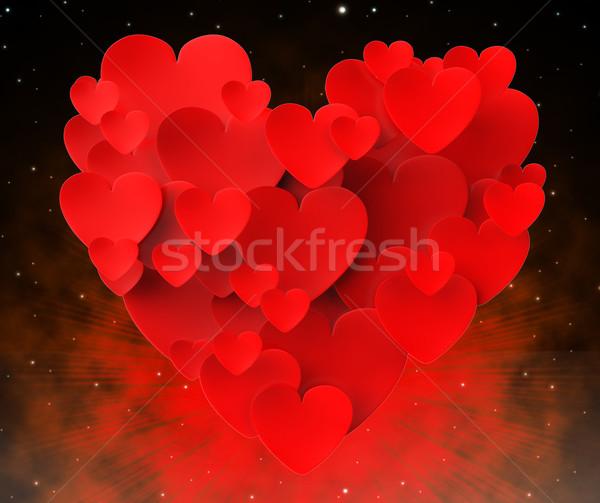 сердце сердцах красивой брак страстный смысл Сток-фото © stuartmiles