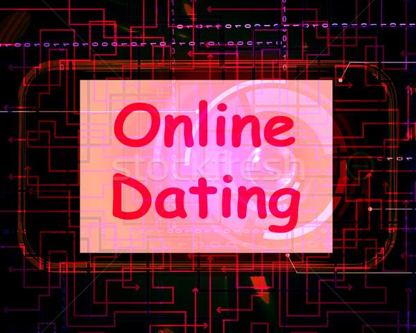 Online Incontri schermo web amore internet Foto d'archivio © stuartmiles