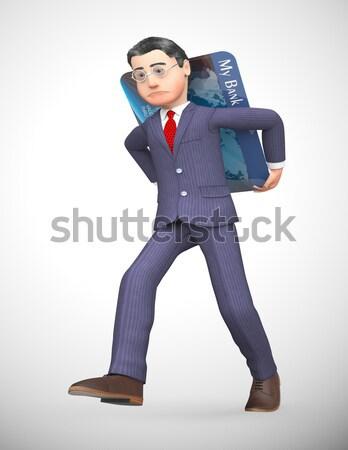 Businessman Carrying Files Represents Advisor Commercial And Correspondence Stock photo © stuartmiles