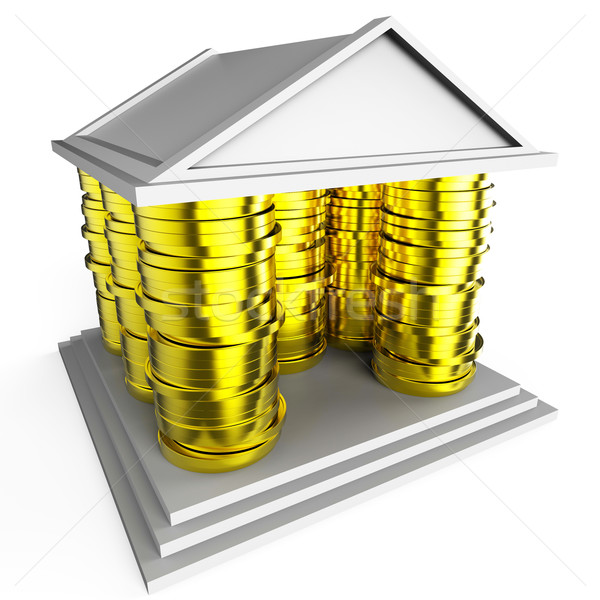 House Mortgage Represents Borrow Money And Building Stock photo © stuartmiles