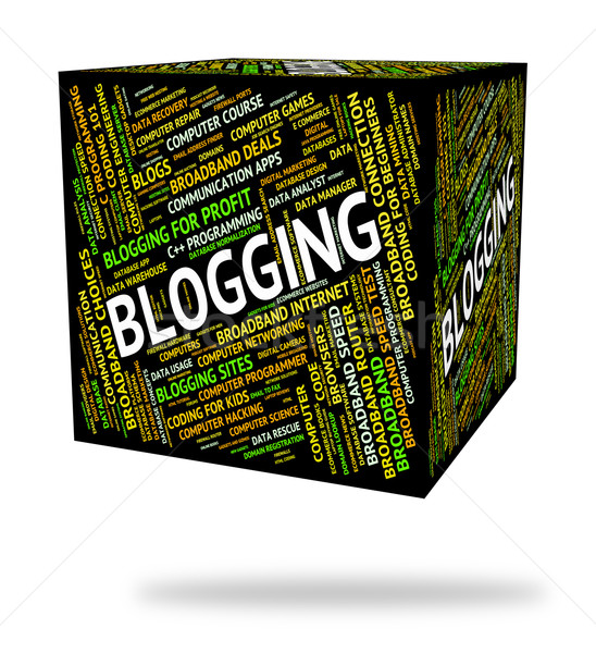 Blogging mot blogger site Photo stock © stuartmiles