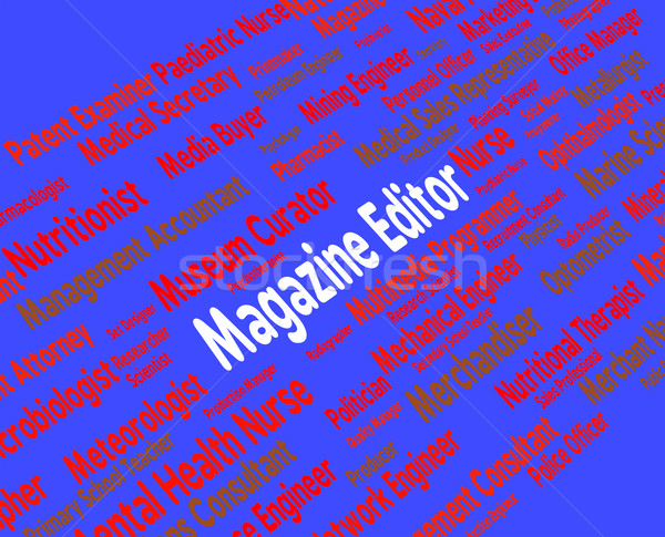 Magazine editor werknemer tijdschrift tekst werving Stockfoto © stuartmiles