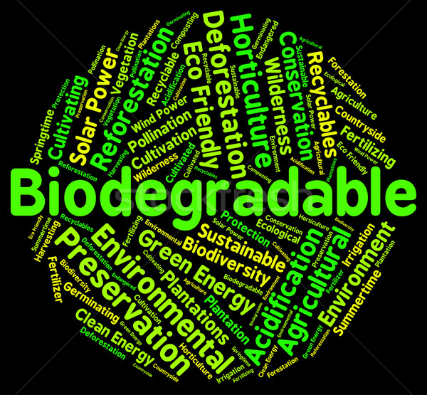 Biodegradable Word Means Degrade Biodegradation And Decompose Stock photo © stuartmiles