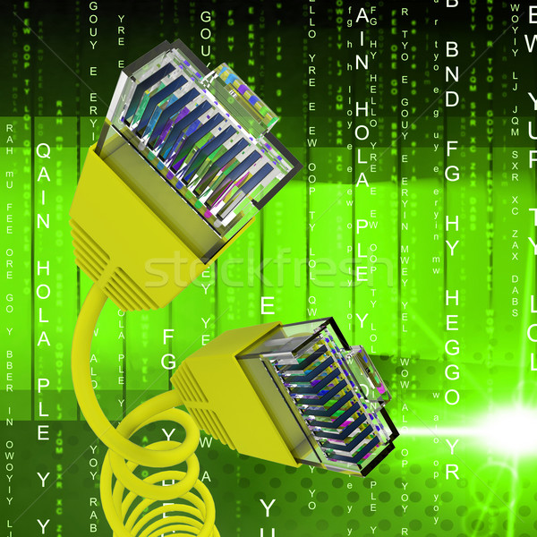Internet kapcsolat világháló kommunikáció mutat számítógép Stock fotó © stuartmiles
