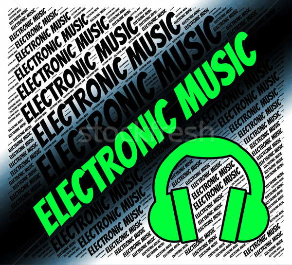 Stok fotoğraf: Elektronik · müzik · organ · ses · ses · bilgisayar