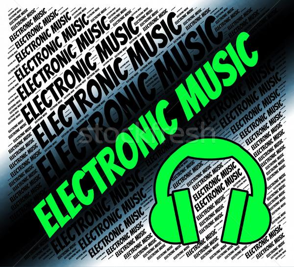 Elektronik müzik organ ses ses bilgisayar Stok fotoğraf © stuartmiles