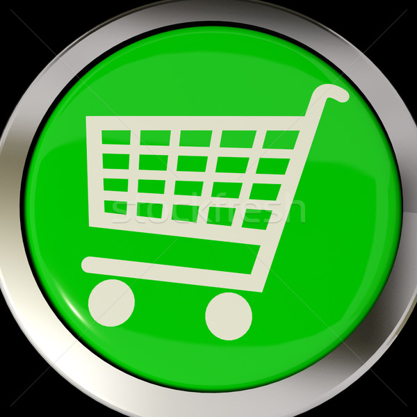 Shopping Cart Icon Or Button As Symbol For Checkout Or Online Sh Stock photo © stuartmiles