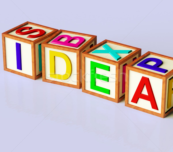 Blocks Spelling Idea As Symbol for Creativity And Inventions Stock photo © stuartmiles