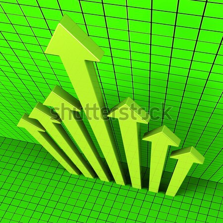 Pound Sign And Up Arrow On Screen Showing Gbp Value Increasing Stock photo © stuartmiles