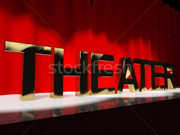 Teatro parola fase broadway ovest fine Foto d'archivio © stuartmiles