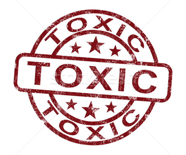 Toxic Stamp Shows Poisonous And Noxious Substance Stock photo © stuartmiles